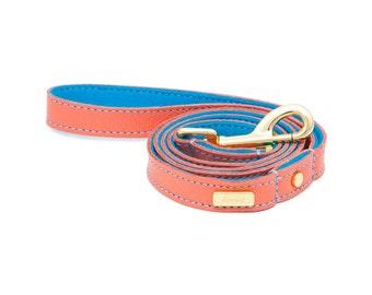 Dog Leash, Dog Lead, Leather dog lead, Leather Dog Leash, Leather Leash, Mandarin Leather Dog Lead, Lurril, UK