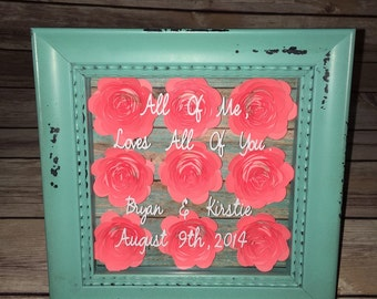 Shadow Box with Paper Flowers