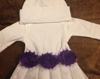 Shabby Chic Purple Baby Gown