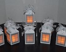 White & Silver Luminary Lantern