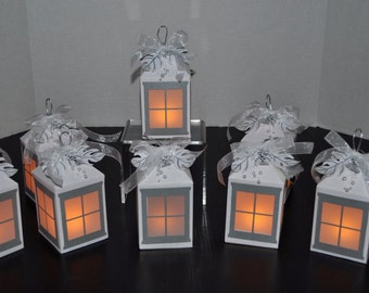 White & Silver Luminary Lantern
