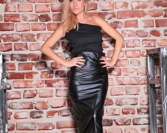 Black Skirt / High waist skirt /Leather Skirt /Casual Skirt /Short Skirt /Gothic Skirt /Midi Extravagant Skirt /Woman Skirt /Long Skirt