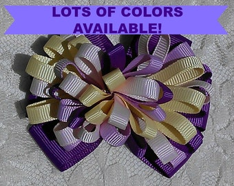 LOOPY HAIRBOW Small bow for little girls, in lots of colors!
