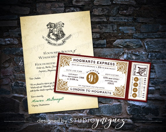 Harry Potter Hogwarts Acceptance Letter And By StudioYniguez