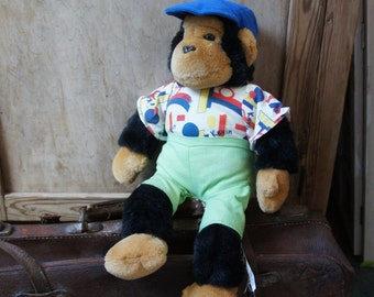 "Vintage PG Tips Monkey Plush 18"" SOFT TOY Kevin Tipps"