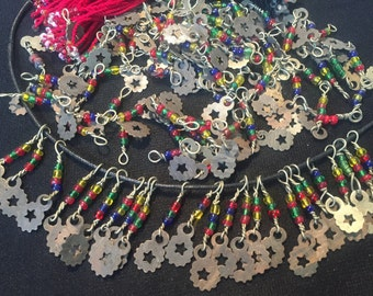 30 Vintage Charms-old Beads-Kochi tribe Handmade-jewellery finding Necklace Parts-