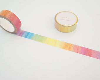 Shave ice rainbow ombre washi tape Hawaii Aloha Collection 2016
