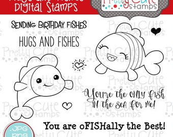Hugs and Fishes DIGITAL Stamp Set