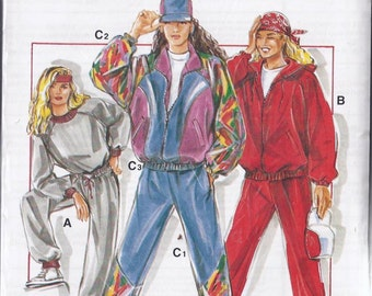 Vintage Sportwear Pattern -  Patron de vêtements de sport vintage  - 1990s
