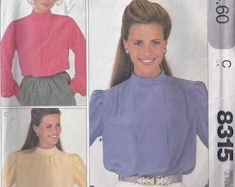 Vintage Blouse Pattern -   Blouses pour jeunes femmes - 1980s