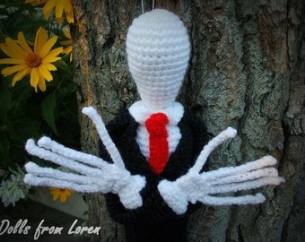 Slender Man Crochet Toy MADE TO ORDER