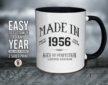 60th Birthday , 60 Birthday gift ,60th birthday mug , Both sided Printed Design , 60th Birthday mug , Limited Edition 1956 mug , 60th 60
