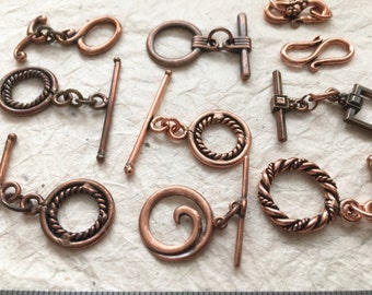 Antique copper findings, copper jewelry supplies, copper beading supplies