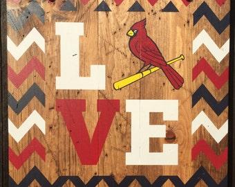STL Cardinals - Wooden Sign