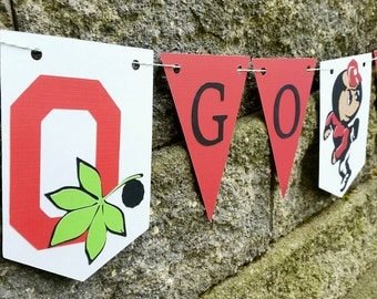 Ohio state buckeyes party, ohio state buckeyes, osu party decor, buckeyes party, ohio state party, burtus buckeye, ohio state banner, banner