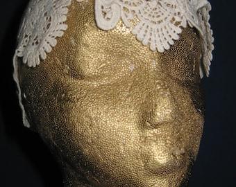Vintage Lace Bridal Turban