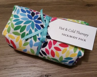 Colorful Leaves Hot & Cold Therapy Rice Pack (Flannel)
