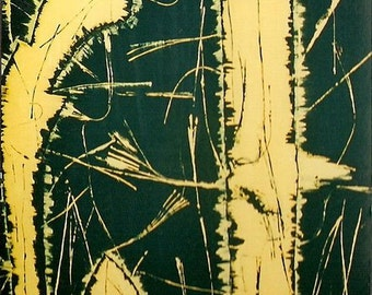 Black- Yellow -  K. Morita painting - Acrylic on canvas