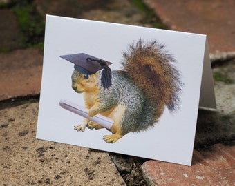 Squirrel Grad Printable Graduation Card