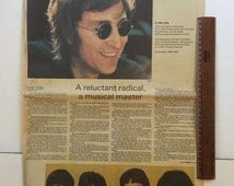 Vintage 198O Beatles Collectible John Lennon Death / Newspaper Tribute St Petersburg Times December 10, 1980 Paul McCartney Yoko Ono