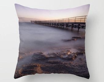 Purple pillow, purple cushion, ocean pillow, ocean cushion, throw pillow, scatter cushion, pillow cover, cushion cover, photography, unique