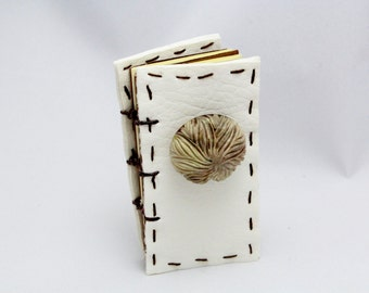 Mini Book with Large Textured Button