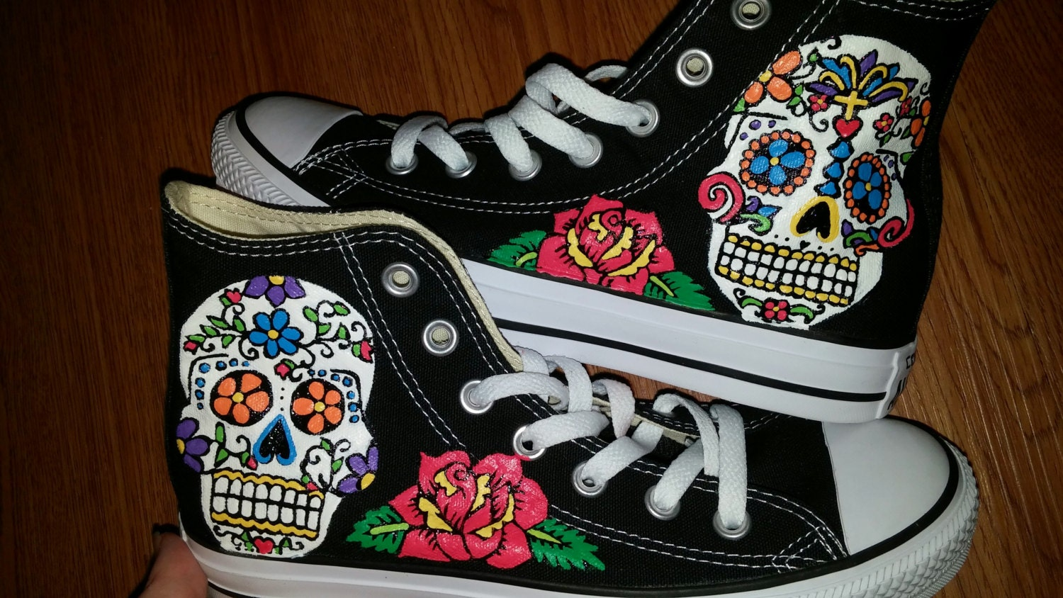 Sugar Skulls Hand Painted Sneakers - My Sugar Skulls