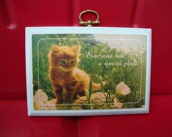 Vintage Hallmark Kitty Plaque