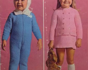 Genuine 1960's vintage knitting patterns