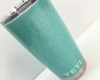 GENUINE, AUTHENTIC 30oz, 20oz, Yeti Cup in Glitter Design and Yeti lettering.  Hydrographics, Hydrodip, Camodip