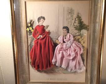 3 D Victorian Colorized Framed Picture