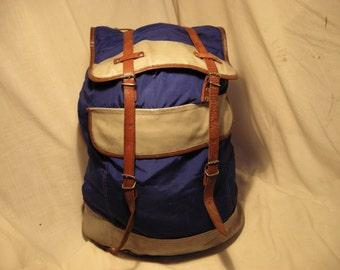 Vintage 1980's Tourist Backpack - Large Size.