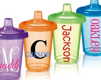 Sippy Cup Bottle Kids Baby Personalized Name DECAL