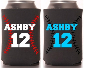 Personalized Baseball T-Ball Can Drink Holder