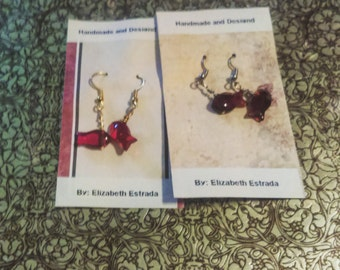 Fish shape wire Wrapping Earrings