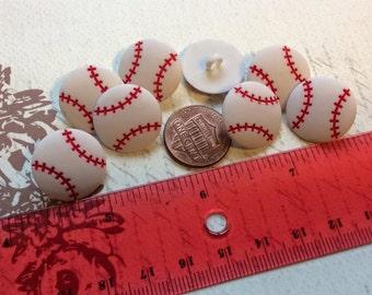 SET of 8 Shank Baseball Sewing Buttons