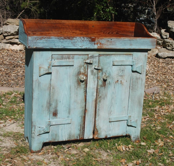 Primitive dry sink cupboard martin mabe artisan reclaimed for Local reclaimed wood