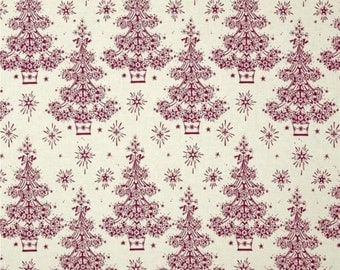 Yuletide Trees Cotton Quilt Fabric Anna Griffin Christmas