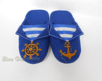 Felted slippers to order , Mens wool slippers , Mens Shoes , Felt slippers , Blue slippers , Home shoes , Gift for him