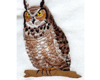 Great Horned Owl Embroidery Design