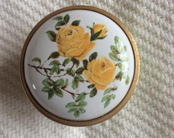 Staffordshire enamel trinket box