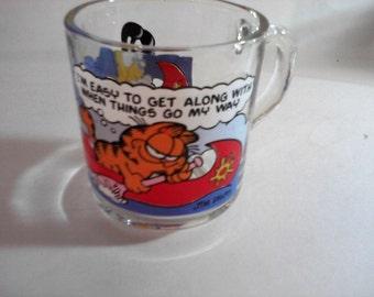 Garfield Odie glass mug 1978 McDonald's