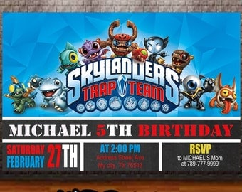 Skylanders Birthday Invitation, Skylanders Invitation Birthday, Skylanders Invitation Party, Skylanders Invitation, Birthday Invitation