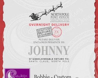 Custom Santa Sack Design for Bobbie