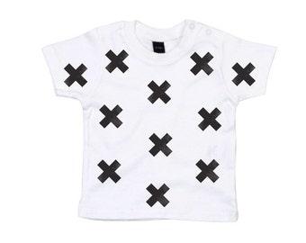 Cross Hand Stamped Baby T-shirt