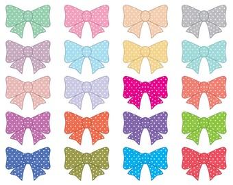 Digital Bow Clipart, Clip Art Bow, Ribbon Clipart, Bow Graphic, Digital Ribbons, Bow Clip Art, Clipart Ribbons, Instant Download