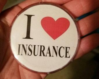 Flo Progressive I Heart Insurance Button Pin
