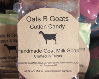 Cotton Candy Goat Milk Soap