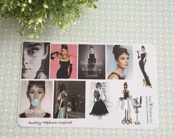 Audrey Hepburn Sticker Sheet