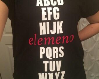 Elemeno P shirt, Alphabet Shirt, Teacher shirt